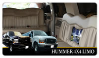 Stretched Hummers and 4x4 limos including Ford Excursion and Lincoln Navigator